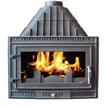 Вставьте чугунную печь (FIPA076), печь с деревянной вставкой