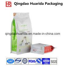 A embalagem flexível feita sob encomenda levanta-se o saco plástico do empacotamento de alimentos para animais de estimação