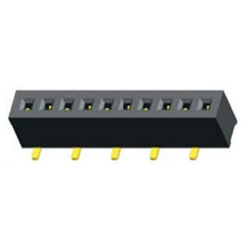 1.27mm Female Header Single Row SMT Type H3.4of4.3