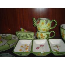 Доломитовая ручная роспись посуды