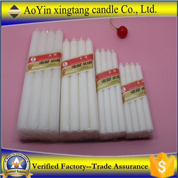 White paraffin wax high quality candles