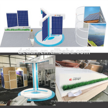Detian Offer 3x9m unique exhibition booth for trade show fair stand