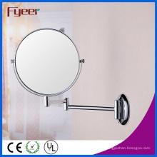 Fyeer alta calidad redonda plegable montada en la pared Cosmeitc espejo de la pared