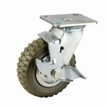 Rolamento de rolamento duplo tipo pesado PU Caster Khx4-H4