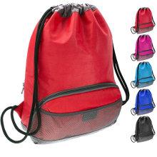 Waterproof Fabric Swim PE Gym Sports Bag Drawstring Sackpack Backpack