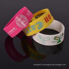 Beliebte Werbegeschenke Silikon Armband schnelle Lieferung