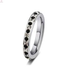 Anel de prata de metal jóias com diamantes, prata anéis empilháveis para as mulheres jóias baratas
