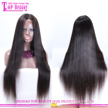 Human hair silk top full lace wig imported wigs
