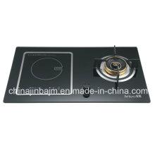 2 Queimador de vidro temperado Placa de cozinha embutida