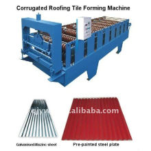 corrugated/water wave colored steel roofing cold roll forming machine