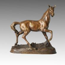 Animal Bronze Sculpture Décoration Cheval Statue en laiton Tpal-091