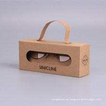 Caixa de papel quente de Kraft dos óculos de sol da venda do projeto da forma