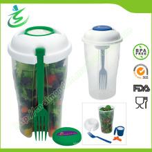 Custom Salat Cup mit Gabel und Dressing Container