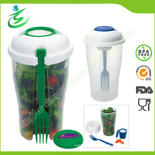 Custom Salad Cup with Fork and Dressing Container