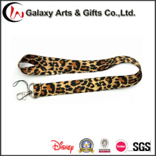 Free Sample Promotional Items Leopard Printed Sublimation Lanyard Designs