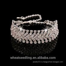 Оптовый браслет стерлингового серебра 925 с кристаллом, браслет женщин