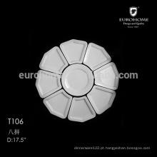 Hotel prato dividido em cerâmica, placa de compartimento T106