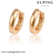 92203- xuping bijoux nouvelle boucle d'oreille avec plaqué or 18 carats