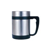 Double tasse de thé en acier inoxydable 18/8 avec poignée en plastique