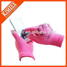 Knitted customized winter touch screen gloves