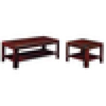 Mesa de café de madeira mesa de café clássica mesa de café quadrada impermeável