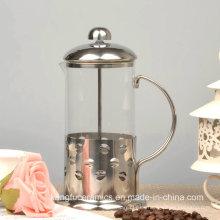 Hermosa alta resistencia al calor de vidrio de borosilicato Francés prensa cafetera