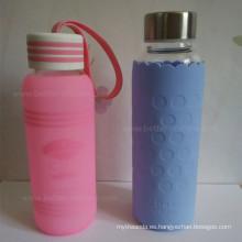 Manga de tazas de viaje de café de silicona protectora con aislamiento personalizado
