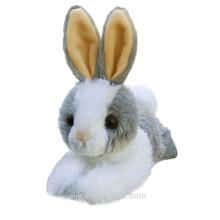 ICTI fábrica personalizada peluche de peluche de juguete blanco conejo