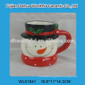 2015 new arrival ceramic container in snowman shape with cover