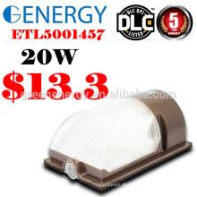 ETL CER RoHS führte Wandpaket geführtes Licht IP65 20W mit Fotozellen-Sensor 120V / 230V im Freien an der Wand befestigter LED-Beleuchtungskörper