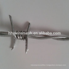 12#*14# barb wire supply low price hot dipped galvanized barbed wire