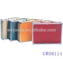 высокое качество алюминиевого портативный путешествия чемодан с различных цветовых вариантов Пзготовителей