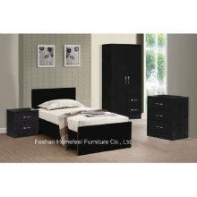 3 Piece High Gloss Combi Wardrobe Bedroom Set