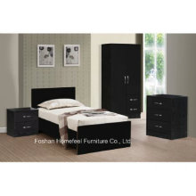Conjunto de dormitório Combi de 3 peças com alto brilho
