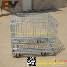Foldable Stackable Wire Mesh Container Storage Cage
