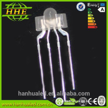 High Quality 2mm LED Nipple Shape LED Diode tri-color common anode ( CE & RoHS )