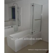 Douche baignoire transparente entourant le bain de douche supérieur