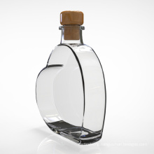 Customization Luxury Wine Heart-Shaped Glass Bottles with Cork for Vodka