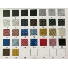 Cubiertas de placa de interruptor de colores de fibra de carbono completa