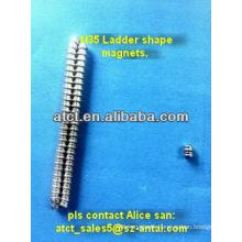 Sintered rare eath tiny neodymium magnet ladder shape N42