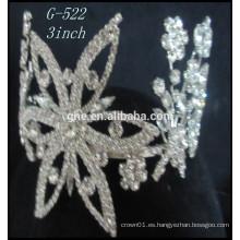 Nueva joyería cristalina de la tiara de la princesa de la tiara de la corona cristalina del modelo modificó coronas falsas coronas