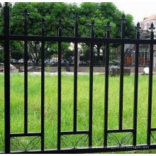 Yard Ornamental Black and White Wrought Iron Palisade Fence