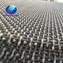 gekräuselte Steinbruchmasche 65Mn Stahlvibrationsschirmmasche mit Hakenminingbrechermasche