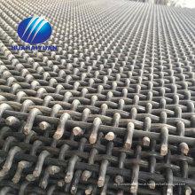 malha de aço da tela da vibração da malha 65Mn da friso frisada com malha do triturador da mineração do gancho