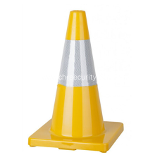 "Reflective Tape 18"" Flexible Bright Yellow PVC Traffic Cone"