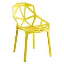 Mobilier créatif de mode nordique chaise creuse hôtel loisirs café chaise en métal jambe à manger chaise
