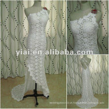 JJ2683 White One Shoulder Alta qualidade Long Train Mermaid laço vestido de noiva 2015 últimos vestidos projetos na China Alibaba