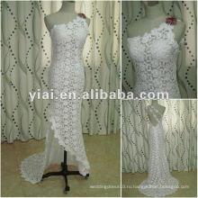 JJ2683 Белый одного плеча высокого качества длинный поезд свадебное платье Русалка кружева свадебное платье 2015 самые последние конструкции в Китае alibaba
