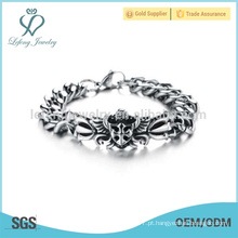 Pulseira de corrente de prata barata, pulseiras personalizadas, pulseira artesanal