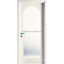 Arc Top White Prime MDF Carving Doors with Glass